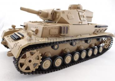 RC Panzer IV F1, dt. Africacorps R&S / 2.4GHZ / Metallgetriebe Heng Long - Torro Edition